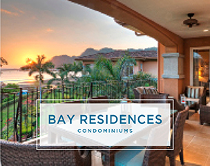 balcony with view of sunset in Bay Residences