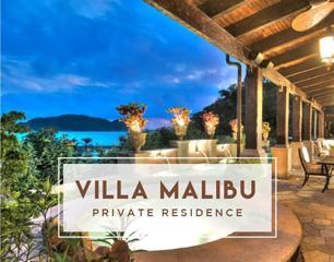 terrace with flowerpots in Villa Malibu Los Sueños