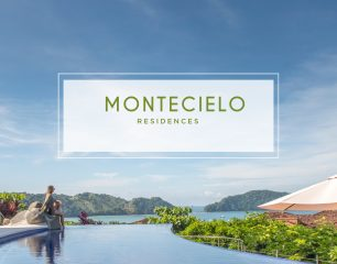 girl sitting on edge of pool in Montecielo Residences